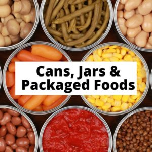 Cans, Jars and Packaged Foods